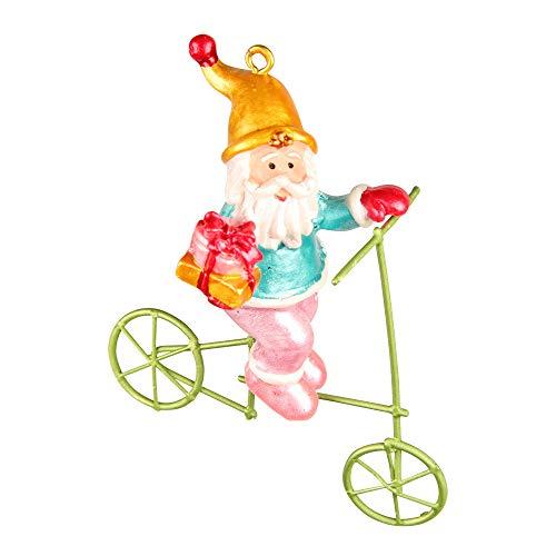 Santa auf Fahrrad, Polyresin, 6 x 10 x 3 cm