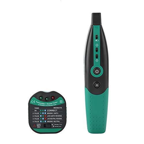 Wandisy socket tester, socket tester voor standaard AC stopcontacten, MASTECH MS5902 locator voor spanningstesters met automatische polariteitsdetectie voor circuits (US plug)