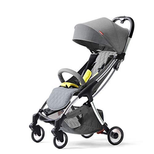 BLWX - La Poussette Ultra légère de bébé Peut s'asseoir et Se Plier Wagon léger de Poussette de Parapluie portatif Poussette (Couleur : Gray)
