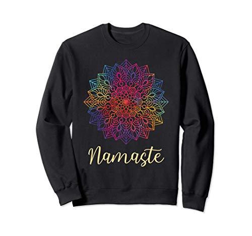 Rainbow Mandala Namaste Yoga Spiritual Mantra Meditation Sudadera
