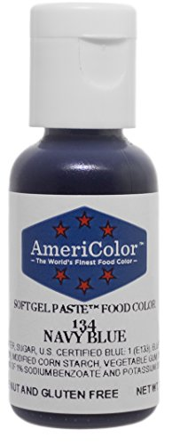 1 X NAVY BLUE .75 Ounce Soft Gel Paste Food Color