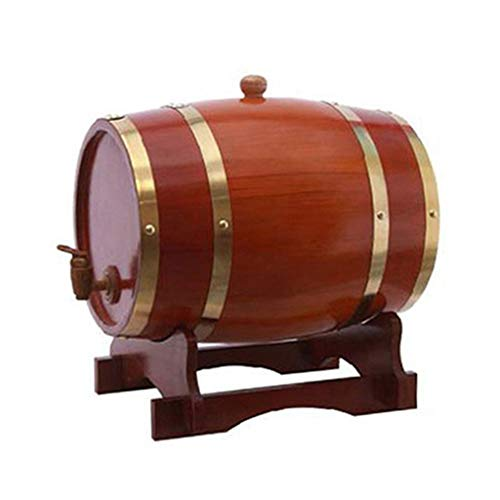 Barriles de Roble 3L / 5L / 10L / 15L, Barriles de Vino Tinto Roble Barril de Whisky for el Almacenamiento de Salsa de Cerveza Whisky Ron Caliente, etc. (Adecuado for la decoración Bar