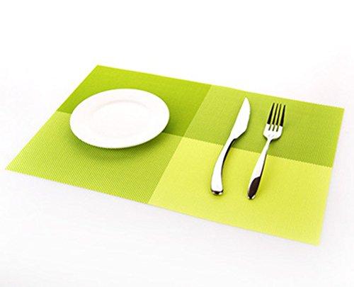 Da.Wa Isolation antidérapante Placemats en PVC lavables Tapis pour table à manger, Plaques d'isolation