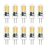 Klighten 10-Pack 3W G4 LED Bombillas, AC/DC 12V Bombillas de iluminación equivalente a 25W Halógena, Blanco natural 4000K, No Regulable