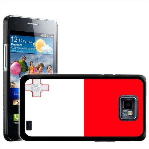 Fancy Een Snuggle Malta Vlag Ontwerp Hard Case Clip Op Achterzijde Cover voor Samsung Galaxy S2 i9100