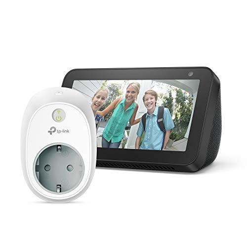 Echo Show 5 – Nero +TP-Link HS100 Presa intelligente Wi-Fi, compatibile con...