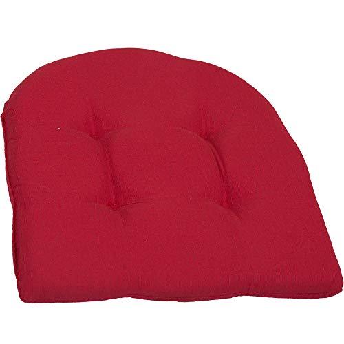 Beo Sitzkissen Gartenmöbel | Made in EU | Rot | Stuhlkissen Wasser- und fleckenabweisend | Sesselkissen 41x41 cm für Stuhl | hautfreundlich, pflegeleicht | 4,5 cm dick | Öko-Tex Standard