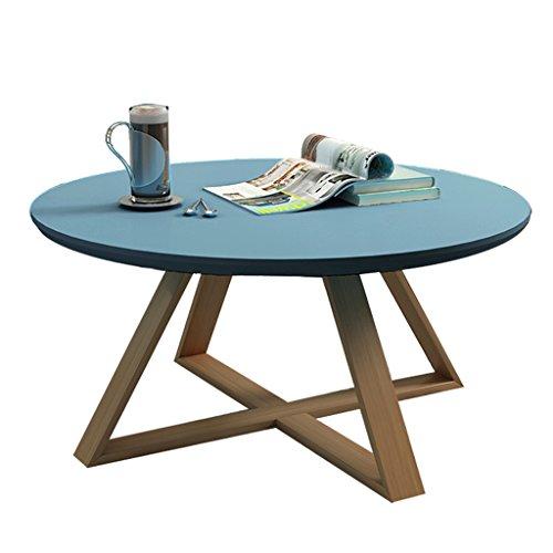 Tables basses Canapé élégant Table d'appoint Table Ronde en Pierre personnalisée Table de Magazine de Bureau/Table de thé élégant et Durable Durable (Bleu) (Size : 70x45cm)