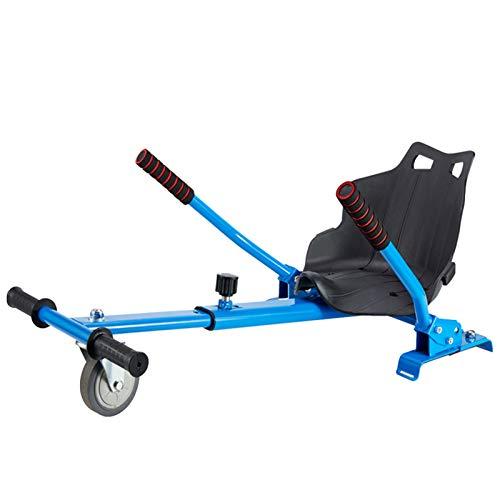 Hoverboards, Sillón de corredor, flujo de kart adjunto para Smart Electric Scooter ajustable, para todas las alturas, todas las edades auto equalojas de scooter comp blue