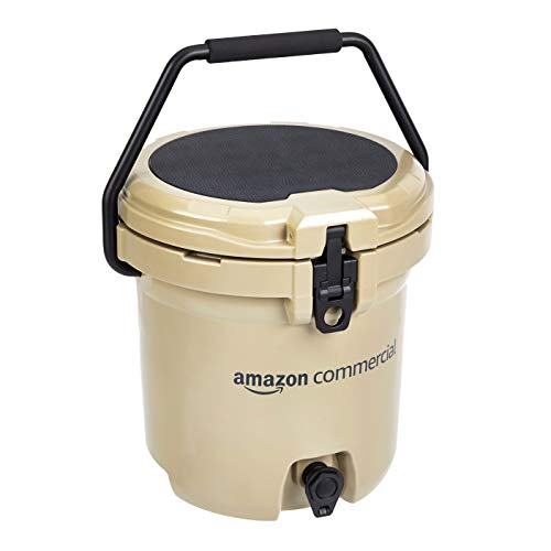 AmazonCommercial Rotomolded 5 Gallon Water Cooler, Tan