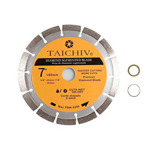 TAICHIV High Performance 7 inch 180mm Segmented Diamond Circular Saw Blade