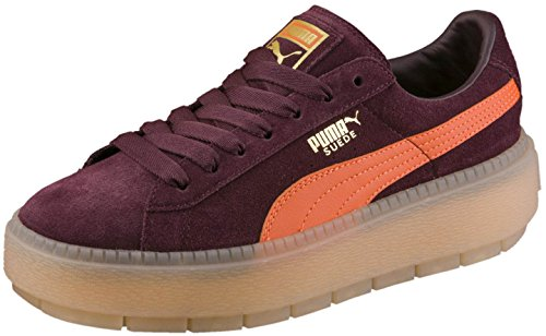 PUMA Womens Platform Trace Platform Sneakers Shoes Casual - Burgundy - Size 9 B