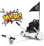 RCB Hoverkart per Hoverboard Go Kart Lunghezza Regolabile Compatibile con Tutti Gli Hoverboard 6.5/8/8.5/10 Pollici per Adulti Bambini Regalo di Natale
