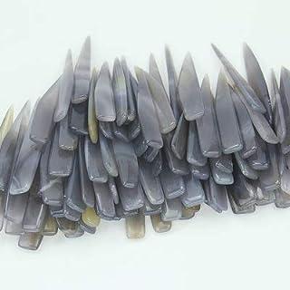 Outils de travail en cuir Agate naturel for frotter le cuir de cuir for marquer le pliage de papier de roissons en cuir de...
