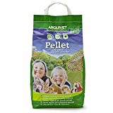 ARQUIVET Pellet - Lecho higiénico natural, vegetal, orgánico para gatos y pequeños mamíferos roedores - Biodegradable - Absorbe líquidos y malos olores - Cantidad: 10 L