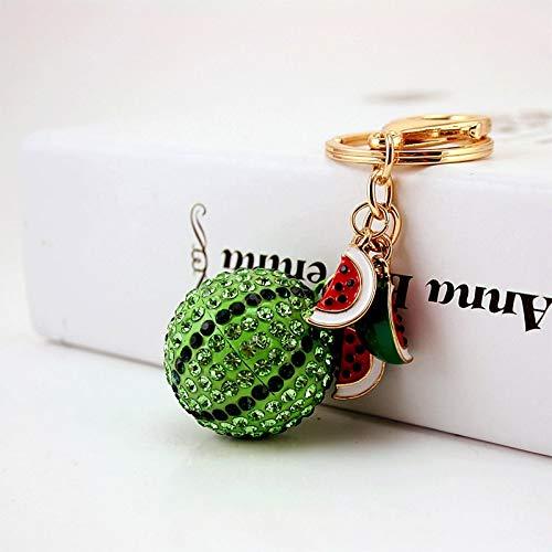 HYM Keychain Cartoon Strass Wassermelone Ornamente Niedliche weibliche Tasche Zubehör Geschenk 11cm