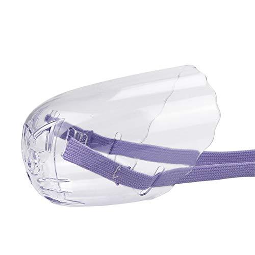 AKDSteel Sombra de Ojos de Gato Transparente Evite morder Bolsa de baño Inyección Collar para Mascotas Cubierta de la Cabeza Bozal Purple M Práctico Robusto