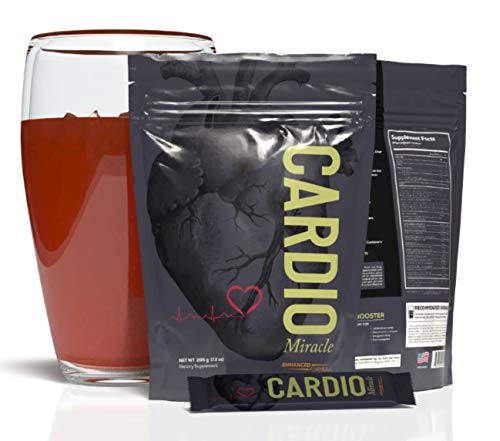 Cardio Miracle (TM) - The Complete Nitric Oxide Solution - Nutritional Heart Healthy L-Arginine Drink Mix (15-Pak Single-Serve Pouch)