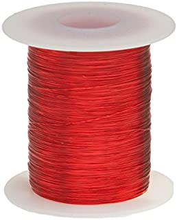 """Remington Industries 27SNSP.25 Magnet Wire, Enameled Copper Wire, 27 AWG, 4 oz, 400` Length, 0.0151"""" Diameter, Red"""