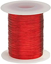 "Remington Industries 28SNSP.25 28 AWG Magnet Wire, Enameled Copper Wire, 4 oz, 0.0135"" Diameter, 507' Length, Red"