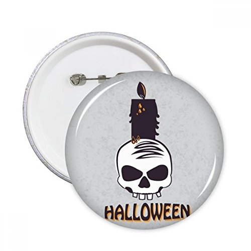 DIYthinker Halloween Kaarsen Schedel Heks Ronde Pinnen Badge Knop Kleding Decoratie Gift 5 stks S Multi kleuren