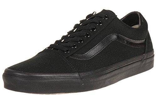 Vans Old Skool, Zapatillas de lona unisex, Negro (Black/Black Canvas), 42.5 EU