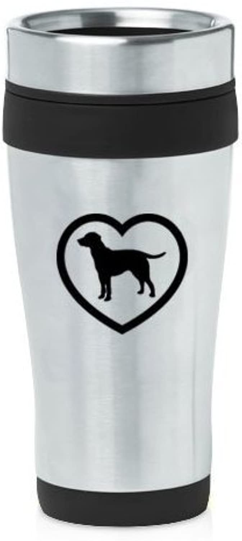 noir 16oz Insulated acier inoxydable voyage Mug Z2266 Lab Labrador Retriever Heart by MIP