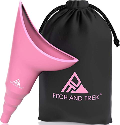 Pitch and Trek Female Urinal  Travel Urination Device amp Pee Funnel for Women  Discreet Carry Bag  Camping Hiking Outdoor Activities amp More