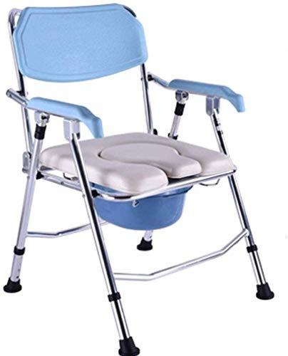 YUQIYU Silla WC, Silla de ruedas silla de ducha plegable Transporte baño silla de baño viejo banco de ducha WC WC