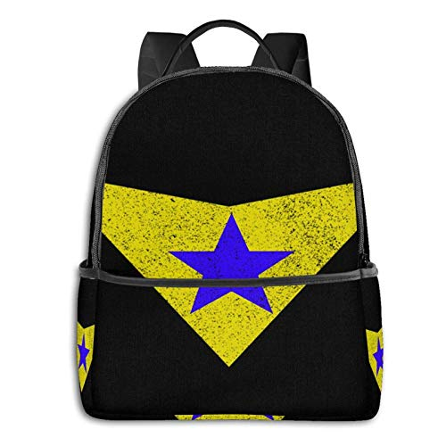 zhengdong Distred Booster Gold Logo Pullover Hoodie Student School Bag School Cycling Leisure Travel Camping Outdoor Bapa