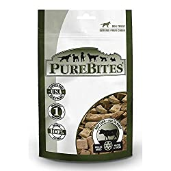 Healthy Dog Treats For Puppies - PureBites Freeze Dried Beef Liver treats.