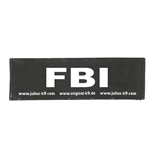 Julius-K9 162LR-G-32168 Klettaufschrift, FBI, schwarz
