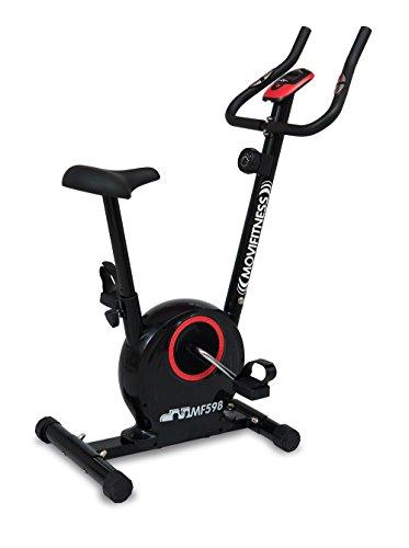 Movi Fitness MF598, Cyclette Magnetica Unisex – Adulto, Nero/Rosso, 82 x 44 x 115 cm