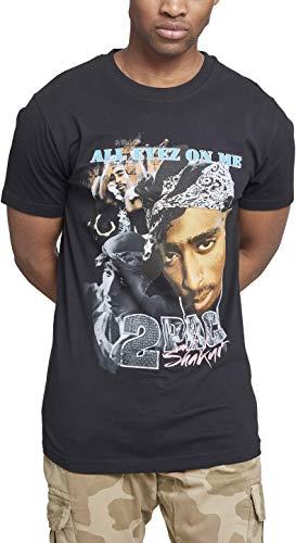 Mister Tee Herren Tupac Retro T-Shirt, Black, S