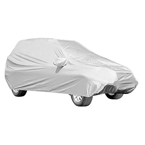 Ganzgarage Schutzhülle Vollgarage Autogarage Autoplane Abdeckplane UV Schutz Für SUV, 5,2 * 2 * 1,8m Silber
