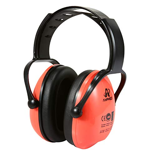 Hearing Protection Earmuff/Headphone for Toddlers, Kids, Teens and Adults. Amplim Noise Cancelling Headphones, Earmuffs for Kids Ear Defenders - Airplane/Concert/Outdoor/Lawn Mower – Coral