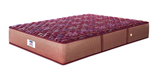Peps Springkoil Bonnell 6-inch Single Size Spring Mattress (Maroon, 75x48x06) with Free Pillow