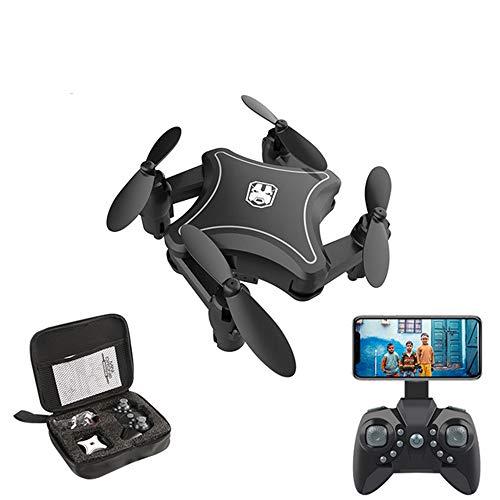 Lily Drone, Folding Mini 4K HD Luftaufnahmen Quadcopter Luftdruck Feste Höhe Mini-Fernbedienung Flugzeug Und Tragetasche,Schwarz,Noaerialphotography