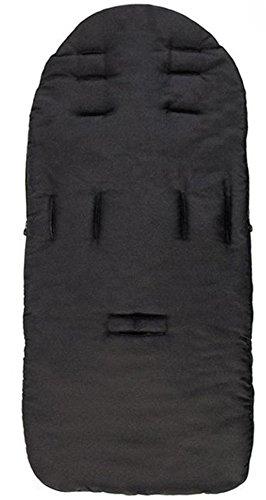 sunnymi Universal Baby Fußsack, Kleinkind Winddicht Warm Pram Kinderwagen Dickes Wattepad, Gemütliche Zehen Schürze Liner Buggy (Baumwollmischung, Schwarz)