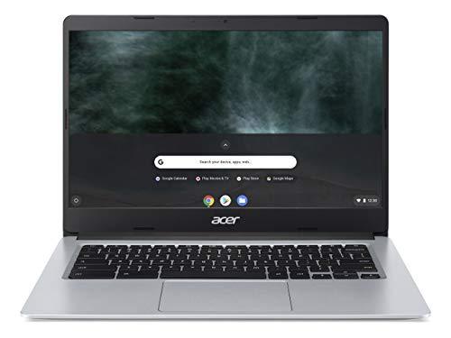 Acer Chromebook 314 (14 Zoll Full-HD matt, 19,7mm flach, extrem lange Akkulaufzeit, schnelles WLAN, MicroSD Slot, Google Chrome OS) Silber (DE Tastatur: QWERTZ)