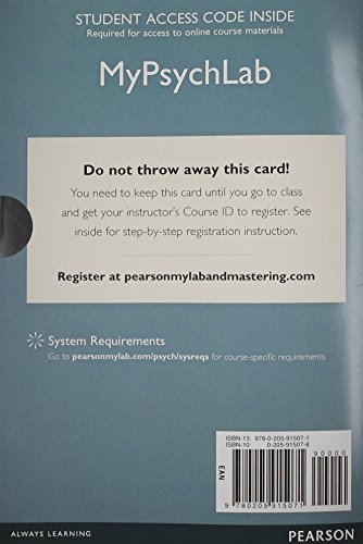 NEW MyLab Psychology without Pearson eText -- Standalone Access Card -- for Psychology: From Inquiry to Understanding (3