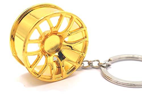 BBS CHR Style Gold Felge Schlüsselanhänger - massiver Anhänger OEM VAG DUB - von VmG-Store