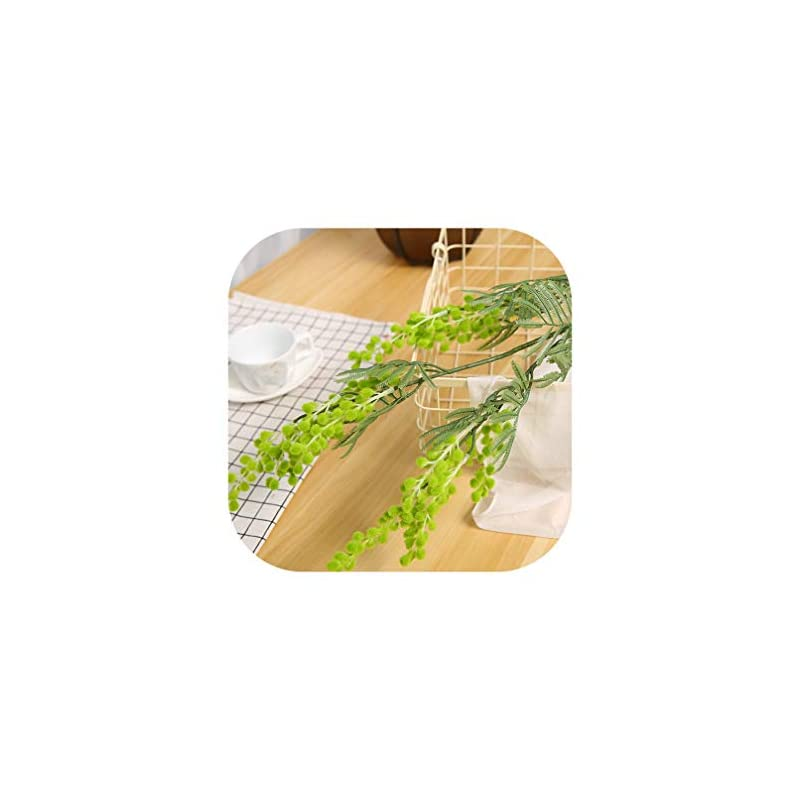 silk flower arrangements charmg 88cm 3 branches artificial acacia yellow mimosa pudica spray fake silk flower wedding party event decor red bean plant