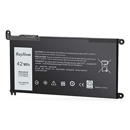 WDX0R Laptop Battery 42Wh/11.4V for Dell Inspiron 15 5565 5567 5568 5570 5578 7560 7570 7579 7569, 13 5368 5378 5379 7368 7378, 17 5765 5770 5767 14-7460 7472 (Fit T2JX4 FC92N 3CRH3)