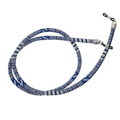 MagiDeal Cinturino Corda Cordini Catena Cinghie Supporto per Occhiali da Sole - Blu, 70cm