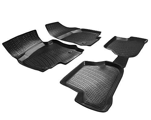 Elmasline Design 3D Gummimatten Set für VW Golf 5 Baujahr 2003-2009 | Extra hoher 5cm Rand