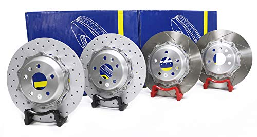 Bracket Type 325 x 11.5 mm Drilled Slotted Rear Big Brake Disc Rotor for MK6 Car/Vehicle/Motor/Auto Modification Updating-Piece