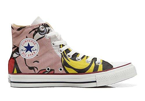 Zapatillas Unisex All American USA – Base Type Star – Impresión Vintage 1200 dpi – Estilo Italiano – Zapatos Personalizados (Producto de artesanía) Blond Girls, Color Multicolor, Talla 45 EU Weit
