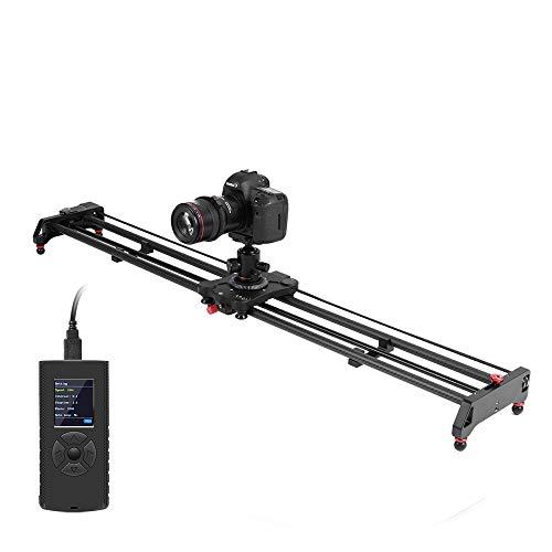 GVM 120cm Kamera Slider Motorisiert,Kameraschiene/Videoschiene Rail Slider Dolly Track, Zeitraffer, Follow Focus,Tracking und Panorama Aufnahmefunktion für Video Fotografie