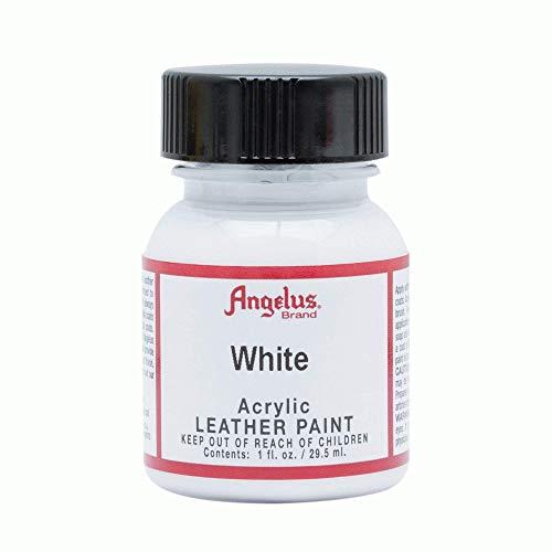 Angelus Peinture acrylique pour cuir, Blanc, 29,5ml